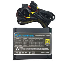 400 Вт настольный блок питания Макс 500 Вт PSU тихий Импульсный 12 В ATX BTC питания SATA компьютерное шасси для Intel AMD PC
