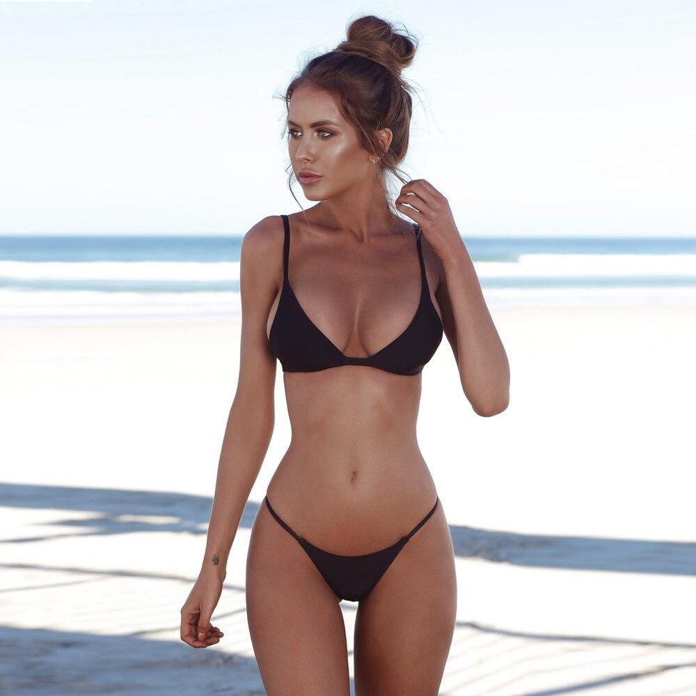 3ef43a3a09cf ᐂ Buy swimwear women black push up bikini and get free shipping ...