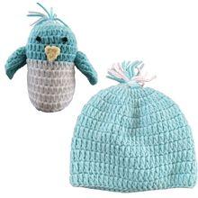 Premium New Newborn Baby Photography Props Infant Boys Girls Crochet Costume Outfits Hat Little Bird Set 0-3 Months