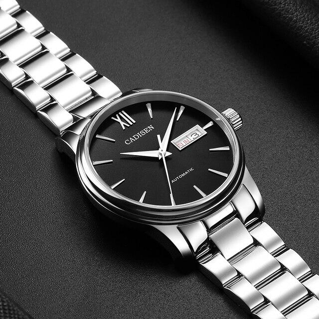 1032 Homens Relógio Mecânico Automático Data Papel CADISEN Fashione Marca de luxo À Prova D' Água Relógio Masculino Relogio masculino Reloj Hombre