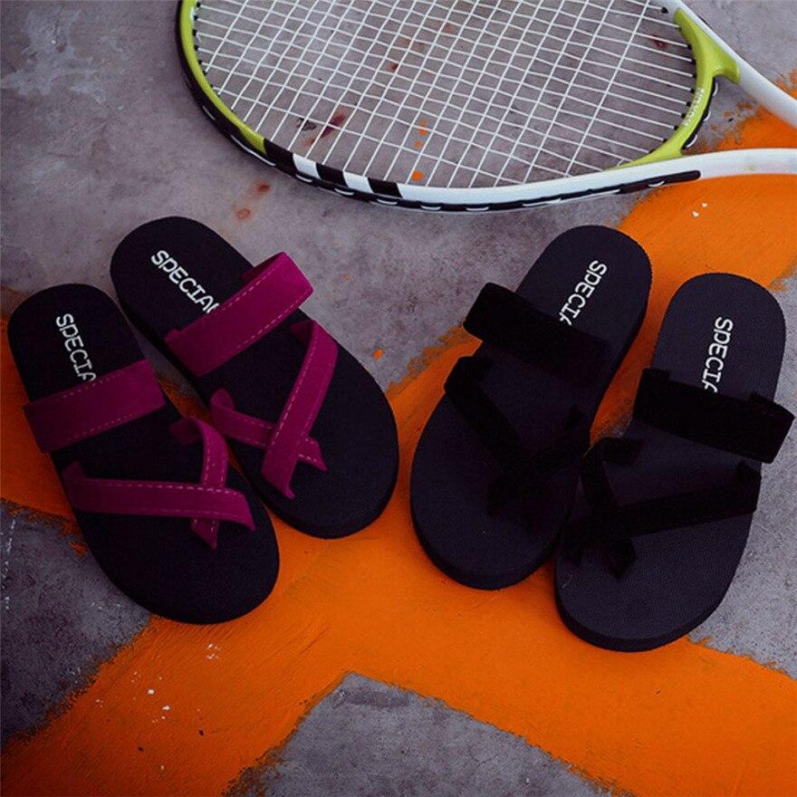 Womens Summer Flip Flops sepatu wanita Casual Slippers Flat Sandals Beach Open Toe Shoes zapatos de mujer sapato masculino T недорго, оригинальная цена