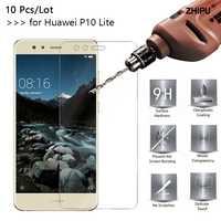 10 unids/lote 2.5D 0,26mm 9H vidrio templado Premium para Huawei P10 Lite 5,2 pulgadas Protector de pantalla endurecido película