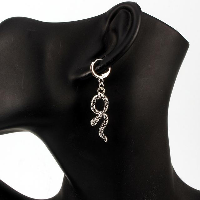 Women's Snake Shaped Hoop Earrings