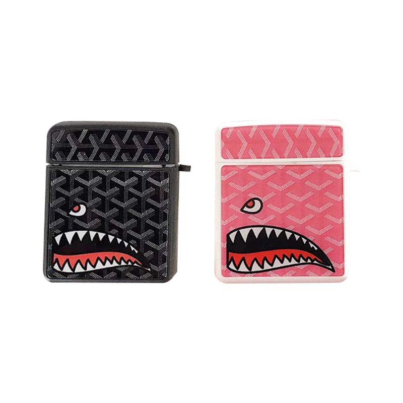 Coque de protection en Silicone souple motif requin Unique coque antichoc pour Airpods 1/2 accessoires de boîte de charge