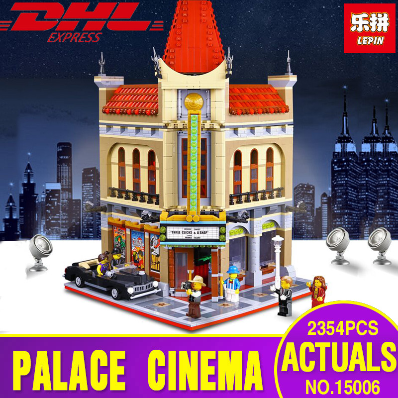 Pesale LEPIN 15006 2354pcs Palace Cinema Model Building Blocks set Bricks Toys Compatible with Legoing 10232 for children Gift city street series 15006 2354pcs palace cinema building blocks creator compatible legoing 10232 bricks toys gifts for children
