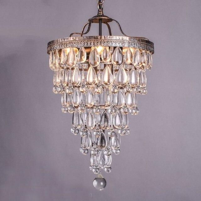 Stile Di Cristallo Goccia Di Pioggia Lampadario Illuminazione A