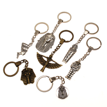 Ancient Egypt Decorationkeychain Double Sided Egyptian Pharaoh Charms For Diy Handmade Gifts Key Chain