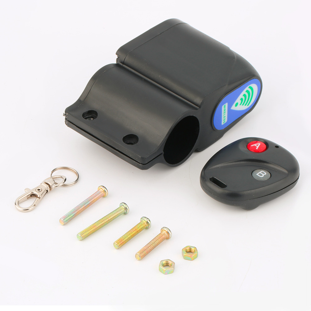 Bike u lock Bicycle Alarm Cycling Security Vibration Alarms with Wireless Remote...