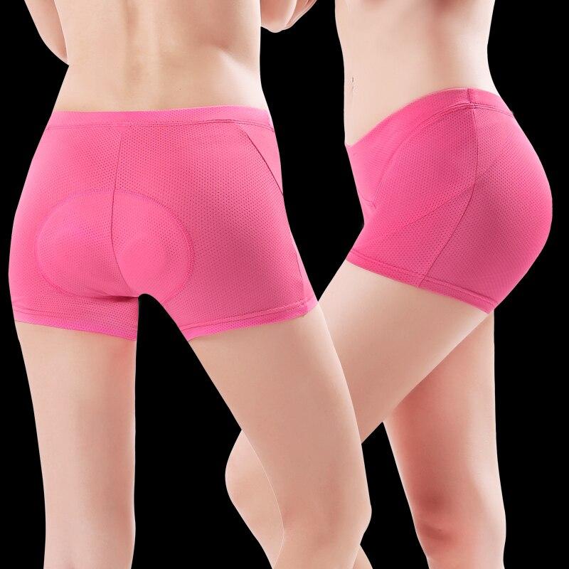 CHEJI Pink Women/'s Biking Underwear Padded Bike Bicycle Cycling Briefs Shorts