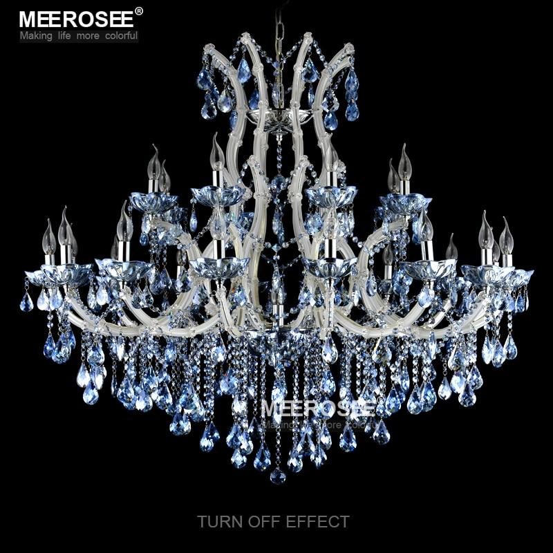 Niebieski Kolor Maria Theresa Kryształowy Żyrandol Lampa / - Oświetlenie wewnętrzne - Zdjęcie 3
