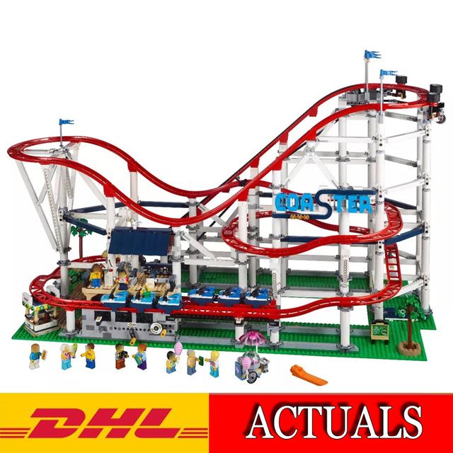 Lepin 15039 4619Pcs Model building kits Compatible with Lego Creator Series 10261 The Roller Coaster Set 3D Brick figure toys lepin 15018 3196pcs creator city series sunshine hotel model building kits brick toy compatible christmas gifts