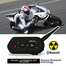 EJEAS E6 Plus 1200M Motorcycle Intercom Communicator Bluetooth Helmet Interphone Headsets VOX With Remote Control For 6 Riders
