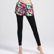 633f7ac81b LIE XING Women's Sports yoga Pants Fake two Piece long sleeve Quick-drying  fitness