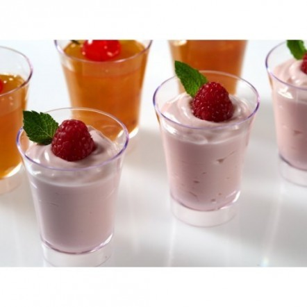 Promotion - Party Wedding Supplies, Disposable Plastic Recyclable Tableware, 64*50mm/70ml Athos Dessert Cup, 10/Pack