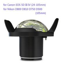 Underwater 40m Photography Anti-reflective Wide Angle Fisheye Lens for Nikon Canon Camera Seafrogs Meikon Waterproof Housing