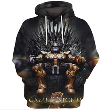 Game of Thrones Hoodie Men House Stark Sweatshirts A Song of Ice and Fire pullover Wolf Hoodies Mens Marvel Avengers 4 hooded hot sale 216 autumn winter game of thrones sweatshirt men house stark mens thick jacket a song of ice and fire winter is coming