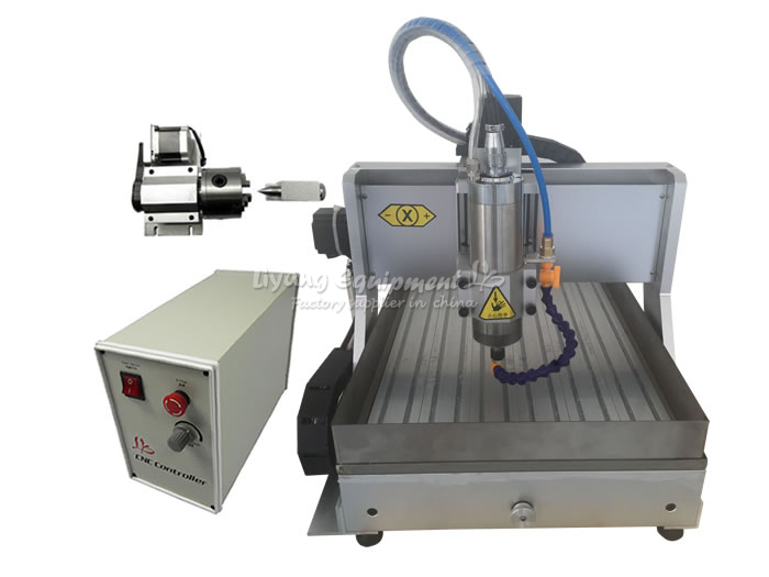 free shipping! CNC router LY3040Z-VFD1.5KW USB 4axis cnc milling machine with water tank for wood aluminum pcb jade carving cnc 5axis a aixs rotary axis t chuck type for cnc router cnc milling machine best quality
