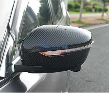 For Nissan Juke 2014 2015 2016 2017 2018 Carbon Fiber Color Door Mirror Cover Rear View Overlay Chrome Car Styling Accessories