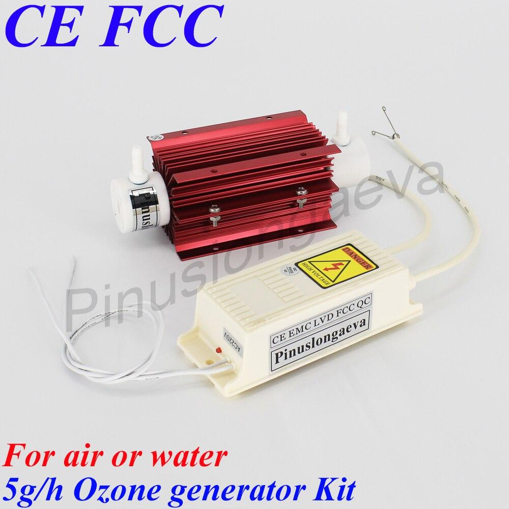 Pinuslongaeva 5 G/H 5 gramos de tubo de cuarzo tipo generador de ozono Kit de nueva tecnología spa Tratamiento de Agua ozonizador uso doméstico aire purificador de