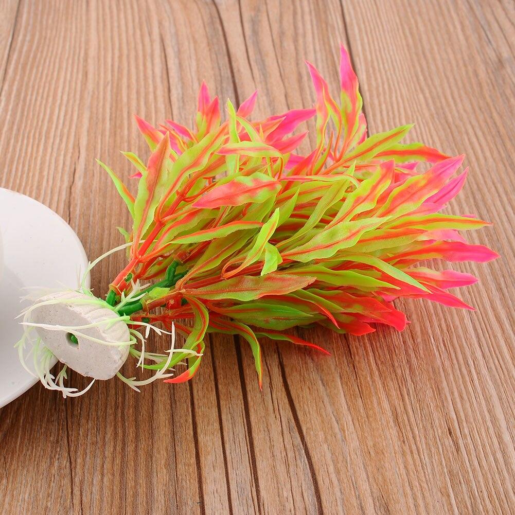 Beautiful glass ornaments - New Artificial Real Water Plants Aquarium Ornament Fish Glass Decor Beautiful
