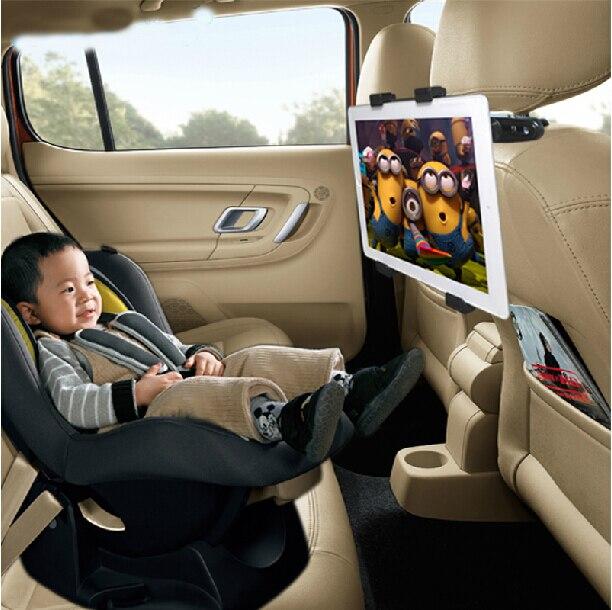 Car Seat Back Pillow Headrest Mount Holder Black for 6