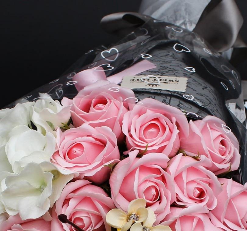 Wisuda Berkat Berkualitas Tinggi 21 Pink Bunga Mawar Sabun Sabun Bunga Hadiah Untuk Mengirim Istri Pacar Pacar Hadiah Ulang Tahun Flower Decoration For Cake Flower Comforterflower Gift Box Aliexpress