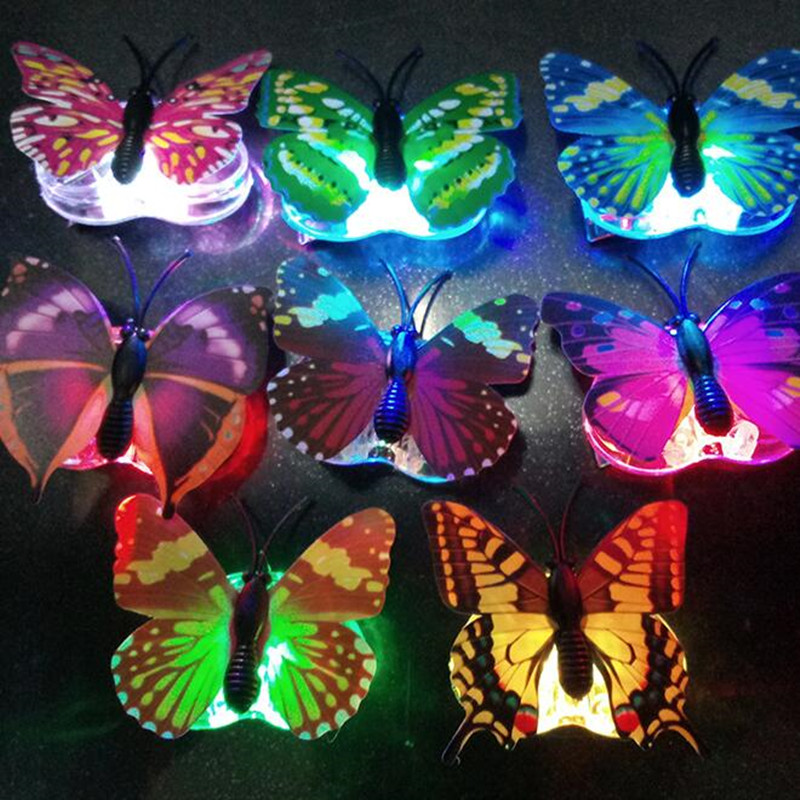 Girls Women LED Flashing Butterfly Hairpins Glowing Hair Clips Headdress Birthday Party Home Christmas Wedding Decoration
