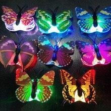 女の子女性 led 点滅蝶のヘアピングローイングヘアクリップヘッドドレス誕生日パーティーホームクリスマスウエディングデコレーション