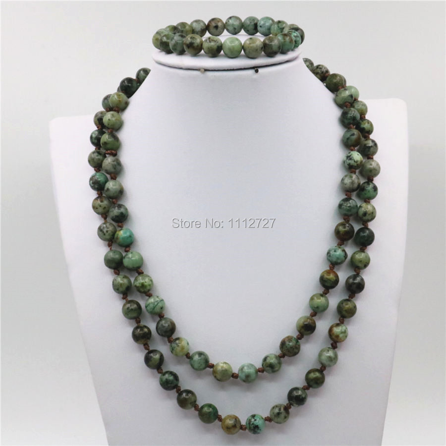 ᐊ8mm Trendy Accessory Crafts Parts Africa Stones Beads Necklace ...