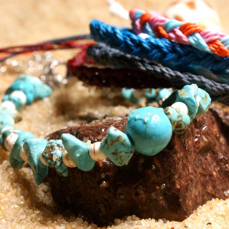 MOON GIRL, новый дизайн, модные подвески из природного камня, ножные браслеты, набор для женщин, ручная работа, цепочка, бохо, браслет на ногу, ювелирные изделия для ног