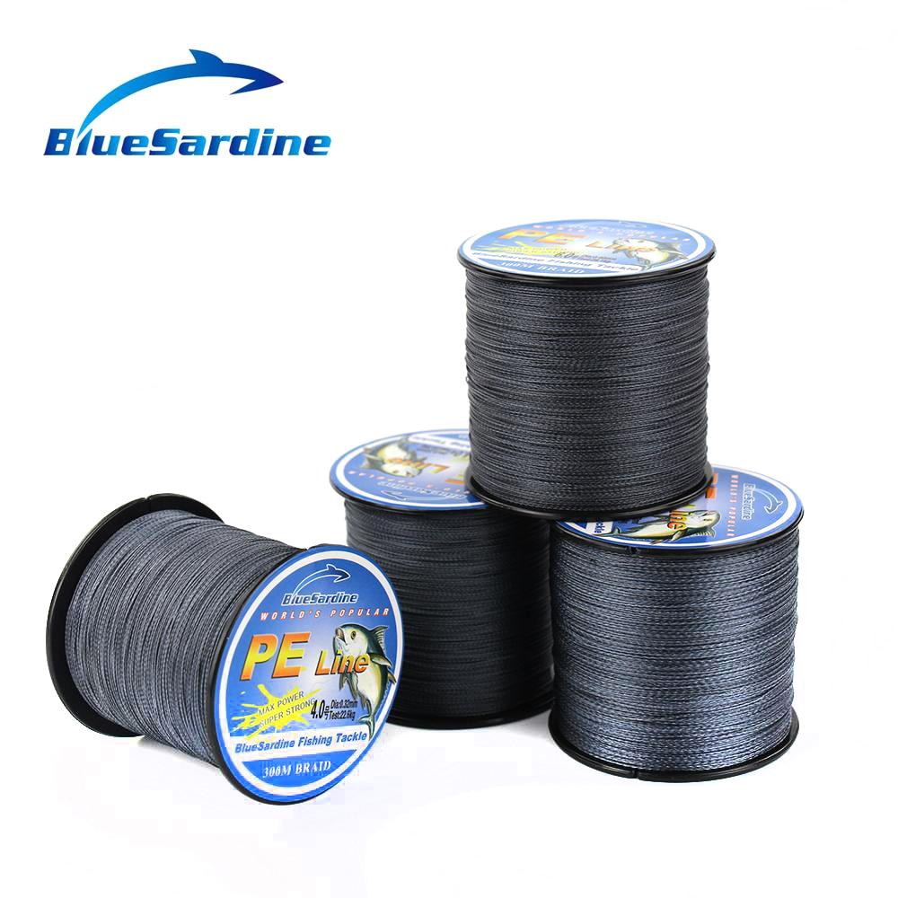 BlueSardine 300 M Jalinan Pancing Abu-abu Multifilamen PE Super Kuat - Penangkapan ikan