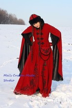 "Custom Made Medieval Fantasy Winter Costume ""Queen of Shamakhan""/Vintage Costume"
