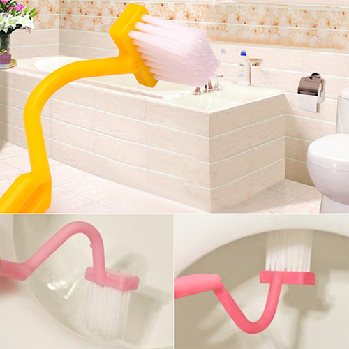 New Arrival S-Shaped Toliet Brush Cleaning Side Curved Clean Households Closestool Hand Tool BI6Y
