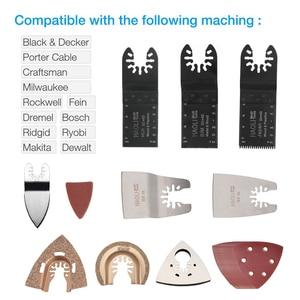 Image 5 - Newone 66 חבילה עץ מתכת נדנוד Multitool מהיר שחרור מסור להבי Fit לפיין שחור & Decker בוש אומן Dewalt