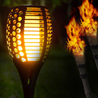 Led-verlichting tuin roadside outdoor landschap binnenplaats solar flame licht controle zaklamp om een romantische sfeer
