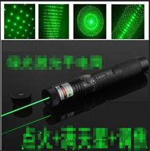 Cost price Powerful flashlight 532nm Green Laser Pointer pen Military 50mw Vert Keychain AAA Battery Gift Box