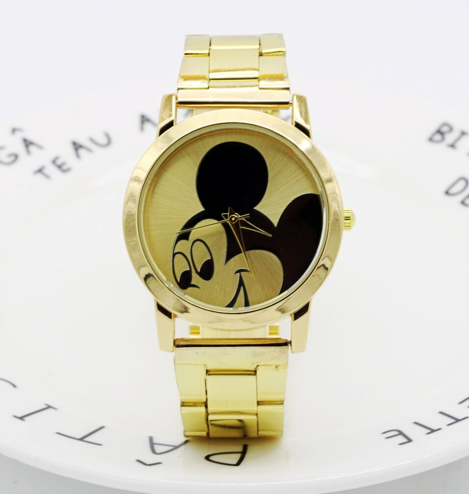 Anime Quartz Watch Fashion Brand Cartoon Watch Children Watches Crystal Diamond Mickey Mouse For Student Clock Dropshipping