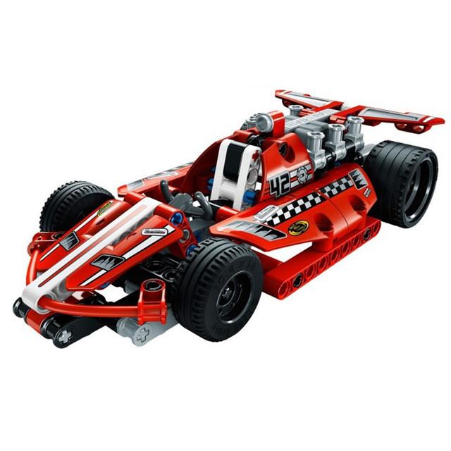 DECOOL Alta Técnica 2 en 1 Guerrero Off-Road Racer Car 3D Bloques de construcción de Juguetes Guerrero Modelo de Coche Deportivo Para Niños regalo
