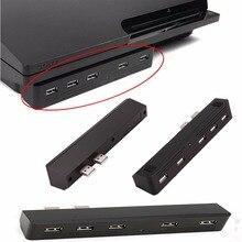 Schwarz 5 PORT USB 2.0 Hub 5 in 1 USB konverter für Playstation PS3 & Sony PS3 Slim konsolen Hohe Geschwindigkeit adapter 2 Zu 5 5X USB Hub