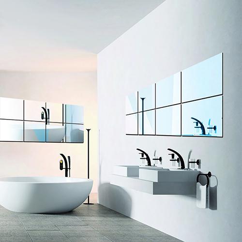 unids azulejos espejos pegatinas cuadrado decoracin de la etiqueta x cmchina
