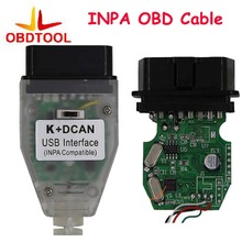 ObdTool for BMW INPA K+CAN with FTDI FT232 Chip OBD2 Diagnostic Tool Cable Support K-Line Protocol