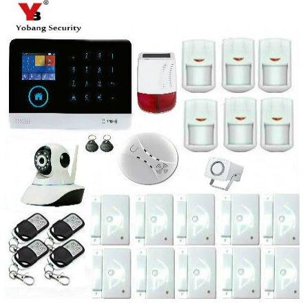 Yobang безопасности IOS приложение для Android Управление Беспроводной охранных 3g сигнализации Системы домофон удаленного Управление Siren Сенсор к