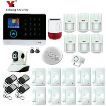 Yobang Security IOS Android APP Control Wireless Home Security 3G Alarm System Intercom Remote Control Siren Sensor Kit