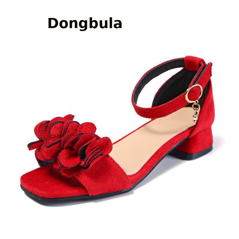 b334b2f7be258 Aliexpress.com : Buy New Children Girls High Heel Princess Red Sandals  Summer Kids Party Shoes Classic Bow Patent Leather Little Girls Wedding  Dance from ...