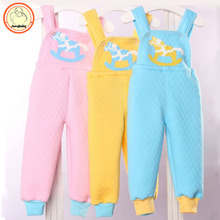 Spring Summer Autumn Winter baby girl boy child overalls suspenders can warm open-backed bib pants underwear