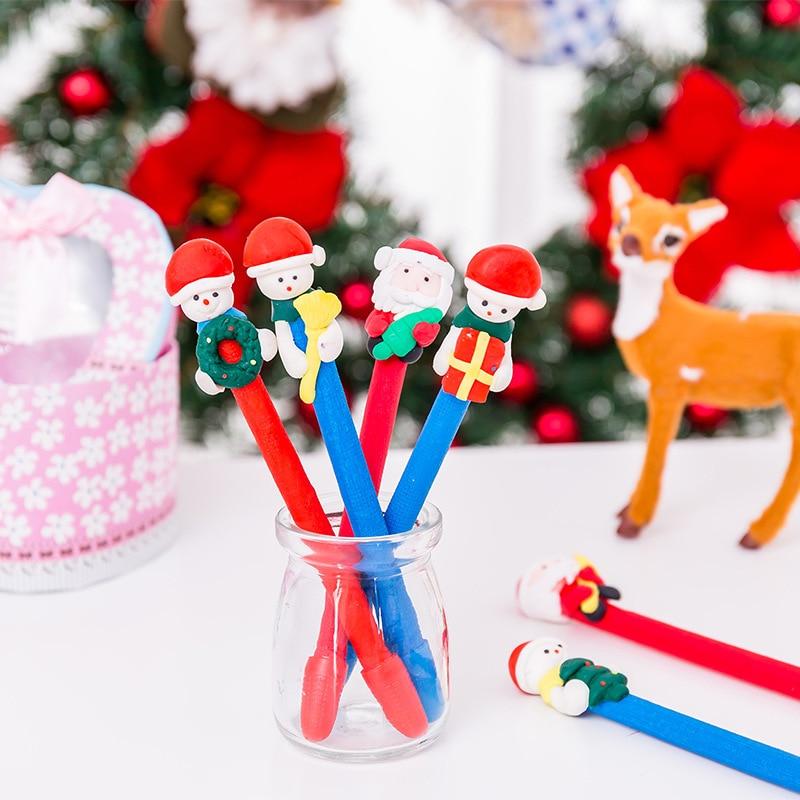 200 stücke Weihnachten Schneemann weiche keramik kugelschreiber ...