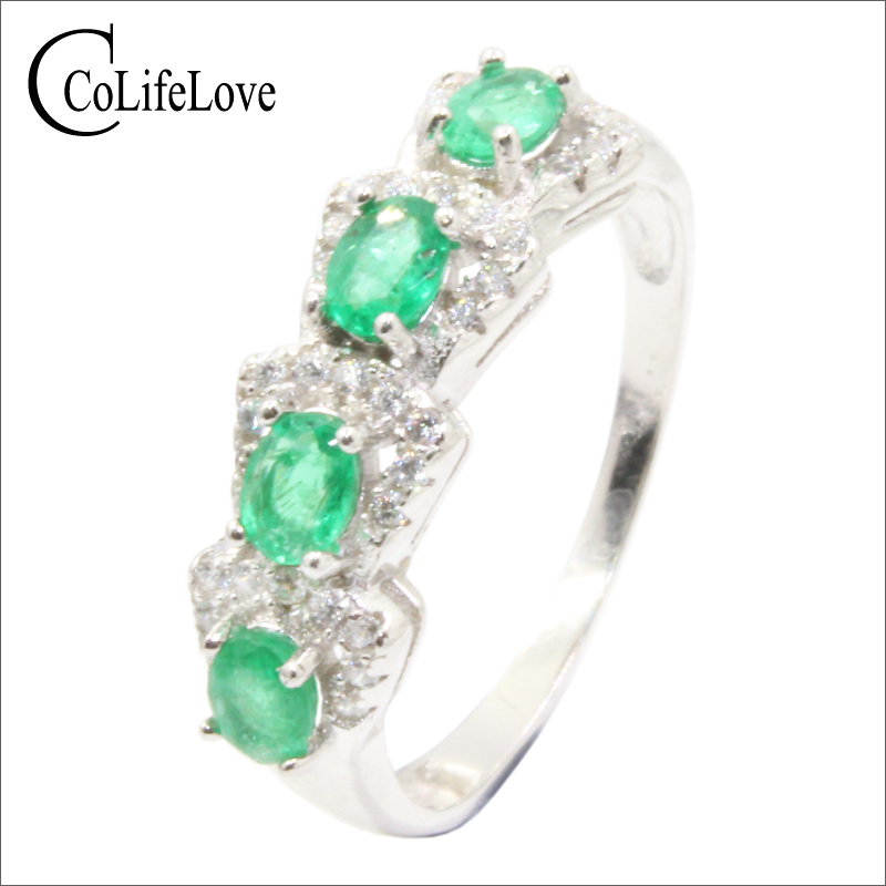 Vintage emerald silver ring for woman 4 pcs natural emerald ring for party solid 925 silver emerald jewelry gift for girl fashionable diy plastic sticker ring for cruz car speaker silver 4 pcs