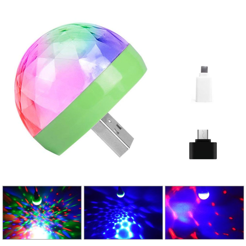 USB Mini Disco LED Lights Portable DC 5V Stage Party Ball DJ Lighting Colorful Effect Stage Lamp For Home Party Karaoke Decor