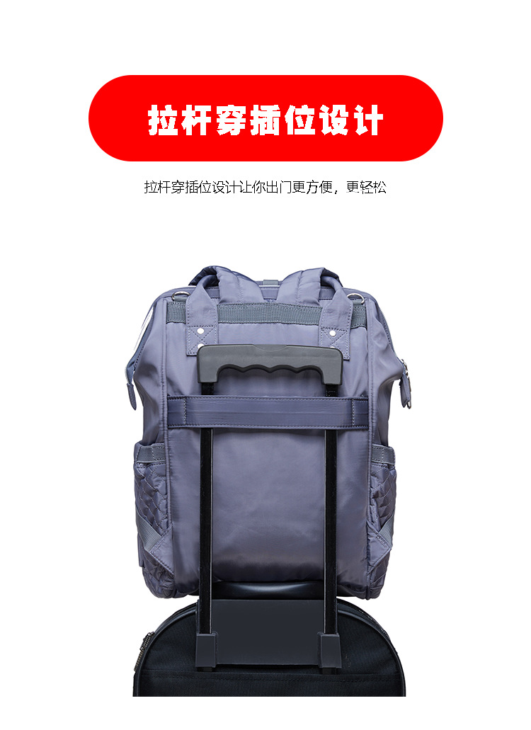 2019 new fashion Diaper bag multi-function Mummy Maternity Nappy Bag Brand Large Capacity Travel Backpack Designer (7)