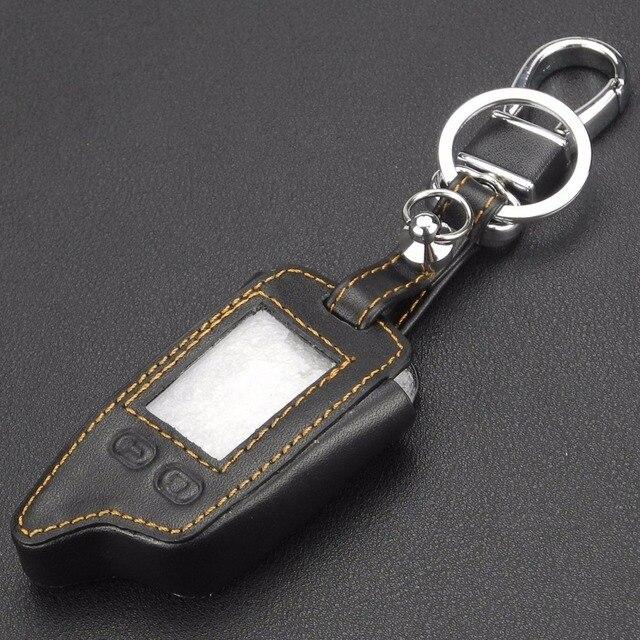 Jingyuqin 5 boutons à distance en cuir étui porte-clés couverture Proctor pour Tomahawk TW9010 TW9030 TW9020 contrôle porte-clés